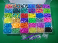 Unisex 8-11 Years Multicolor new Rainbow Loom Kit DIY Wrist Bands for kids( 5400pcs+150 S buckle+packing box)36 colors