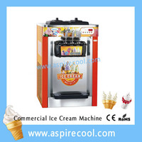 Wholesale Soft Serve Ice Cream Maker Three Flavors Original Brand New Ice Cream Machines CE Certificate