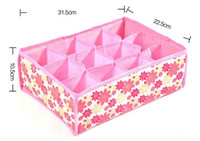Wholesale NEW Hot Sale Folding Grid Storage Box For Bra Underwear Socks CM Non Woven Fabric