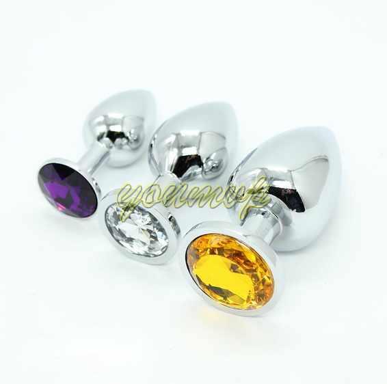Gioielli in acciaio inossidabile attraente Butt Plug gioielli Jeweled Anal Plug Rosebud anale caldo di vendita in youmvp