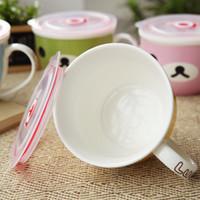 Cheap 0932 Creative home cartoon ceramic bowl ceramic cup fresh bowl large bowl of instant noodles