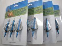 Wholesale free shiping crossbow arrow broadhead grain cut diameter solid blades arrow head tip