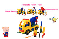 Wholesale Retail Childrens Toys Dismantle Toys Dismantle Engineer Vehicle Intelligence Toys Educational Toys Large Crane Toys Dump Engineer Truck