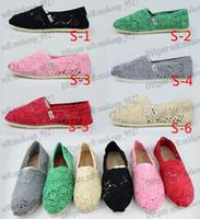 Women's Classic Lace casual canvas shoes Sunflower Crochet E...