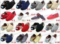 Dropship Hand- made Canvas shoes for Women Men Flat Zebra- Str...