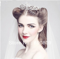 Cheap NEW Gorgeous High quality Wedding Bridal crystal veil tiara crown headband