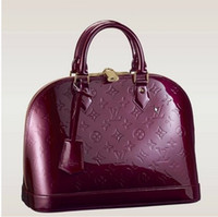 Wholesale red VERNIS ALMA TOTE BAG Women s HANDBAGS PURSE SHOULDER Messenger Bags Patent leather embossed