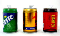 Wholesale Mini cans windproof lighter pop can topping up wang laoji lighter beverage cans lighter
