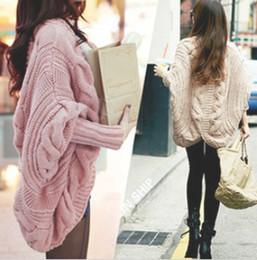Wholesale East Knitting XL women casual full batwing sleeve sweaters loose wraps cardigans winter new knitwear