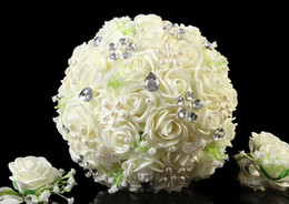 Wholesale Best Selling Beautiful Wedding Bridal Bouquet Decorations Perfect Wedding Favors Hand Holding Flower Artificial Flowers Adornment Silk