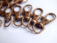 Cheap Free ship!!!Hot fashion 500pcs 38mm Antique copper findings jewelry bead making Metal Lobster Swivel Clasp Key Chain Bag Hooks