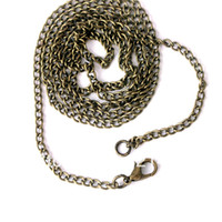 Wholesale 100piece mm can pick antique brass bronze encryption curb necklace chains in bulk