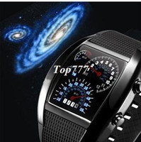 Cheap Mens Watches Blue & Black Flash Digital LED Military Watch Brand New Gift Sports Race Car Meter Dial Watches For Men