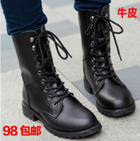 Cheap 2013 fashion women shoes cowhide martin 100% genuine leather british style vintage men's female snow boots