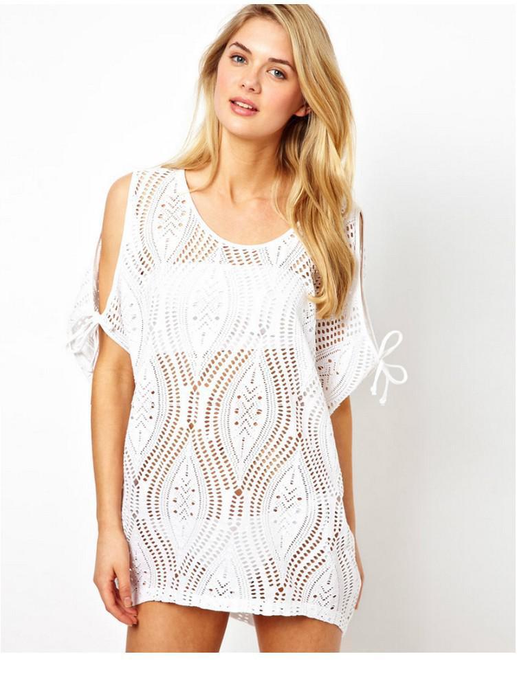 summer dress 2014 women white sexy bikini cover ups plus