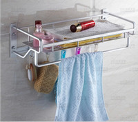 Wholesale Aluminium wire aluminum bathroom buy lever of content bath towel towel shelf hook