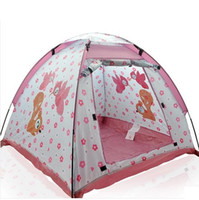 Cheap New Year Childern Pink Yurts Toy tent In&Outdoor Pop Up House Kids Girls Boys Baby Playing Game Tent Toys Happy Chirstmas Gift