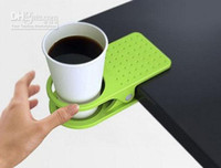 Cheap Wholesale - New Design Office Table Desk Drink Coffee Cup Holder Clip Drinklip Christmas gift Home desktop decor (Random Color)