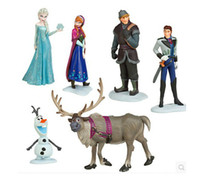 Wholesale 2014 frozen Retail Frozen Figure Play Set Frozen Princess Anna Elsa figure set movie princess doll toy