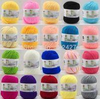 Cheap Wholesale 10 Balls Worsted Cashmere Cotton Silk Soy Baby Knitting Yarn Sweater Silk Wool Cashmere Warm Soft Baby Yarn Knitting