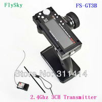 Wholesale Flysky fs gt3b FS GT3B Ghz ch RC System Gun Remote Control Transmitter And Receiver For RC Car Boat Retail Hot Selling