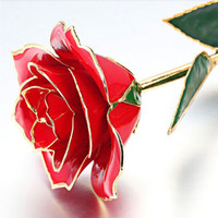 24k gold rose - Valentine s day gifts k gold rose flower Gold Dipped Rose open bud Ideal gift