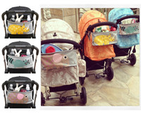 Wholesale Baby Toys Accessories Organizer Stroller Waterproof Canvas Storage Bins Boxes Hanging Bags