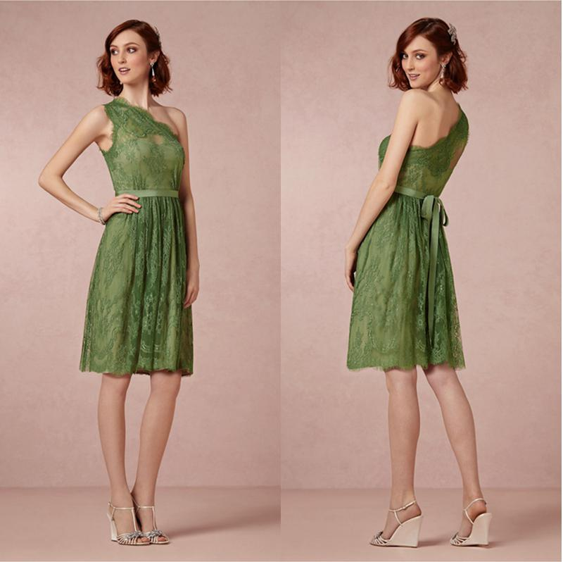 Dresses knee length one shoulder party dresses for wedding junior