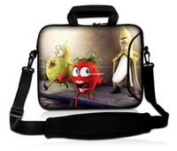 "Cheap 10"" Banana Laptop Tablet Carry Sleeve Case Bag Cover w Shoulder Strap,Handle For Samsung Galaxy Note 10.1 Ipad 4 3 2 1"