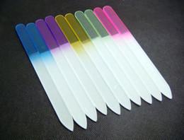 """Wholesale-407-20PCS GLASS NAIL FILES CRYSTAL NAIL BUFFER NAIL CARE 5.5""""  14CM"""