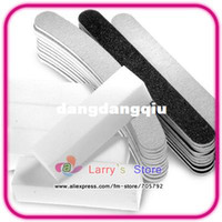 Wholesale manicure sets for acrylic UV gel nail art file White Buffer Block curved and straight Sanding paper Files