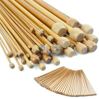 Wholesale 6Sets Needles Sizes quot mm mm Bamboo Smooth Single Pointed Knitting Needles
