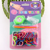 Wholesale Loom Watch for loom Bracelet set Shipping Free loom bands S clips hook loom watch