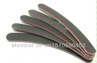 Wholesale Professional Salon Crescent Art Grit Sandpaper Nail Files Buffer Buffing Sanding paper