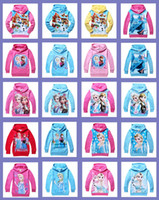 Cheap Free DHL shipping cotton Frozen Baby Girls Elsa Anna Princess Olaf Hoodie Long Sleeve Terry Hooded Jumper Hoodies Outerwear Kids Clothing