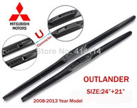 Wholesale Car wiper blades for Mitsubishi Outlander quot quot Soft Rubber WindShield Mitsubish Wiper blade PAIR Free shippi