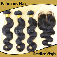 Wholesale Fabulous Brazilian Virgin Hair Middle Part Lace Closure With Unprocessed Virgin Hair Extension Body Wave Lace Top Closure Freeship