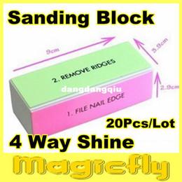 Wholesale BFL xNail File Buffer Buffing Sanding Files Block Nail Art With Buffer Polish Smooth Shine