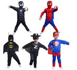 Wholesale Children s Halloween costume spider man tights spider man spiderman suit superman Batman Zorro clothes children clothing S M L Size