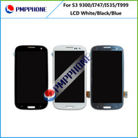 galaxy s3 digitizer - 5 For Samsung Galaxy Siii S3 i9300 i747 T999 i535 R530 L710 White black blue Touch LCD Screen Digitizer Free DHL ship