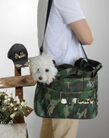 Wholesale 2014 New Camouflage Canvas Pet Dog Cat Comfort Travel Carrier Tote Bag Crate Outdoor Bags Pet Products