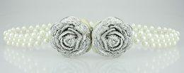 Wholesale Women s Retro style Plastic flowers sweet pearl pearl waist chain belt for women belt waistband Colors