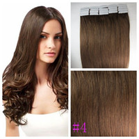 Wholesale quot M Tape On Skin cm Width g pc g set medium brown Straight Invisible Tape In On Hair Extensions