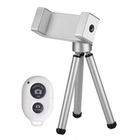 Wholesale Wireless Bluetooth Remote Shutter Phone Camera Control Accesseries with Mini Tripod Holder for iPhone iPad iPod Samsung Sony HTC
