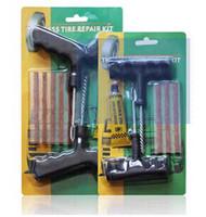 tire repair tools - Automobile tire repair tools piece set repair kit car and motorcycle fast repair tool trumpet