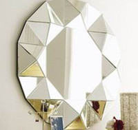 Wholesale MR Square facet frame D wall mirror
