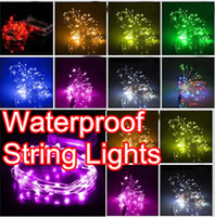Wholesale 3M LEDs Battery Operated Mini LED Copper Wire String Fairy Lights Party Xmas