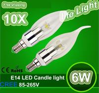 Wholesale 10PCS New Arrival W E14 E27 E12 B22 Led Candle Light Lamp v V SMD5730 LED Bulb Lamps Led chandelier Lighting