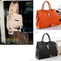 Wholesale Fashion Europe Women Lady Designer PU Leather Handbag Satchel bag