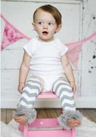 Wholesale Chiffon Ruffle Leggings - Ruffle leggings Photo Prop Baby Leg Warmers Grey Chevron Leg Warmers Chiffon Ruffle Infant Toddler legging